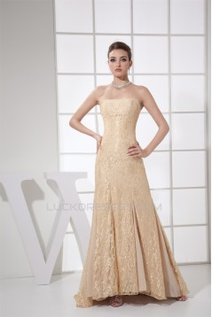 Sleeveless Chiffon Lace Long Prom/Formal Evening Dresses 02020348