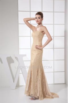 Sleeveless Chiffon Lace Long Prom/Formal Evening Dresses 02020348