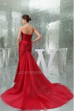 Criss Cross Sweetheart Taffeta Organzan Long Red Prom/Formal Evening Dresses 02020358