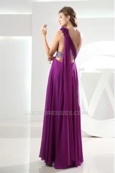 A-Line One-Shoulder Sleeveless Floor-Length Purple Prom/Formal Evening Maternity Dresses 02020359