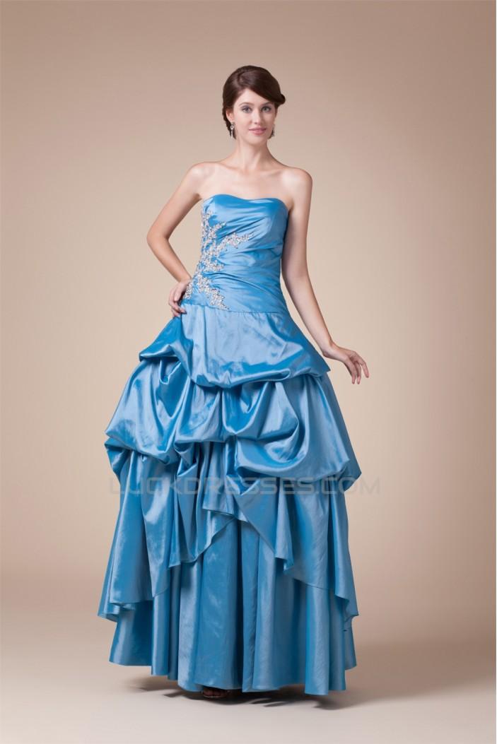 Sleeveless Floor-Length Princess Strapless Prom/Formal Evening Dresses 02020363