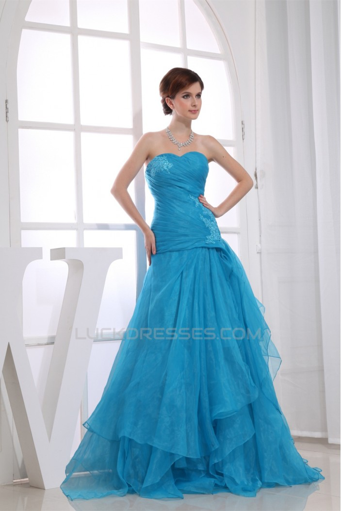 A-Line Floor-Length Ruched Sweetheart Prom/Formal Evening Dresses 02020364