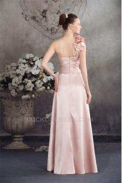 A-Line Handmade Flowers Asymmetrical Prom/Formal Evening Bridesmaid Dresses 02020370