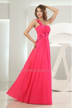 Sleeveless One-Shoulder Floor-Length Sequins Prom/Formal Evening Dresses 02020376