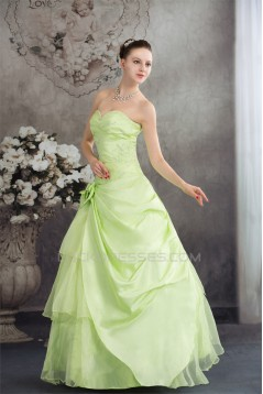 Ball Gown Sweetheart Handmade Flowers Prom/Formal Evening Dresses 02020388