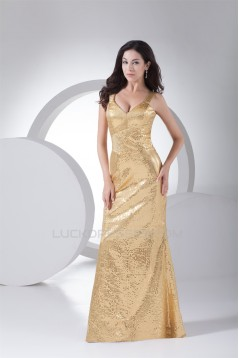 Trumpet/Mermaid Sleeveless V-Neck Sequins Prom/Formal Evening Dresses 02020390