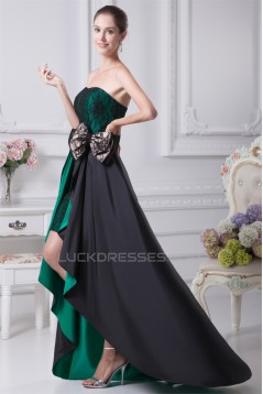 A-Line Sleeveless Asymmetrical Soft Sweetheart Lace Prom/Formal Evening Dresses 02020391