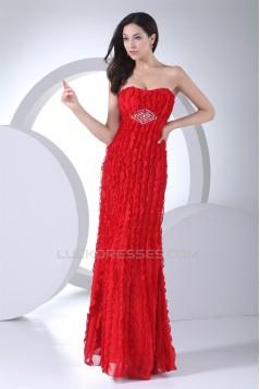 Soft Sweetheart Sheath/Column Sleeveless Long Red Prom/Formal Evening Dresses 02020392