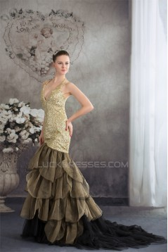 Spaghetti Straps Ruffles Mermaid/Trumpet Prom/Formal Evening Dresses 02020397