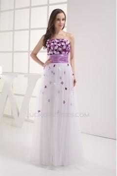 Sheath/Column Strapless Sleeveless Handmade Flowers Prom/Formal Evening Dresses 02020408