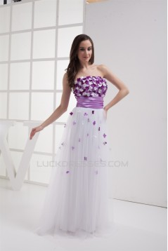 Sheath/Column Strapless Sleeveless Handmade Flowers Prom/Formal Evening Dresses 02020408