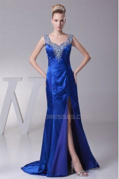 Straps Beading Sheath/Column Brush Sweep Train Prom/Formal Evening Dresses 02020412