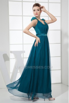 A-Line Cap Straps Beading Chiffon Lace Prom/Formal Evening Dresses 02020413
