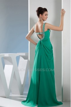 Sheath/Column Straps Chiffon Prom/Formal Evening Dresses 02020416