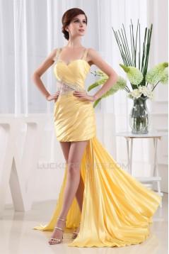 Straps Sleeveless Sheath/Column Ruffles Prom/Formal Evening Dresses 02020421