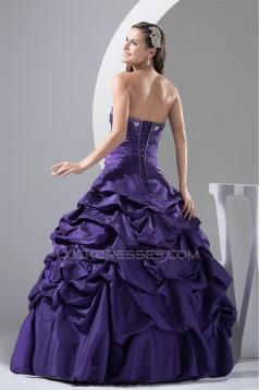 Ball Gown Sweetheart Beading Taffeta Floor-Length Prom/Formal Evening Dresses 02020425