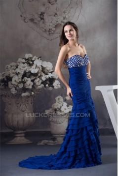 Trumpet/Mermaid Sweetheart Beading Chiffon Prom Evening Formal Dresses 02020426