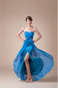 A-Line Sweetheart Beading Sleeveless Chiffon Formal Evening Bridesmaid Maternity Dresses 02020427