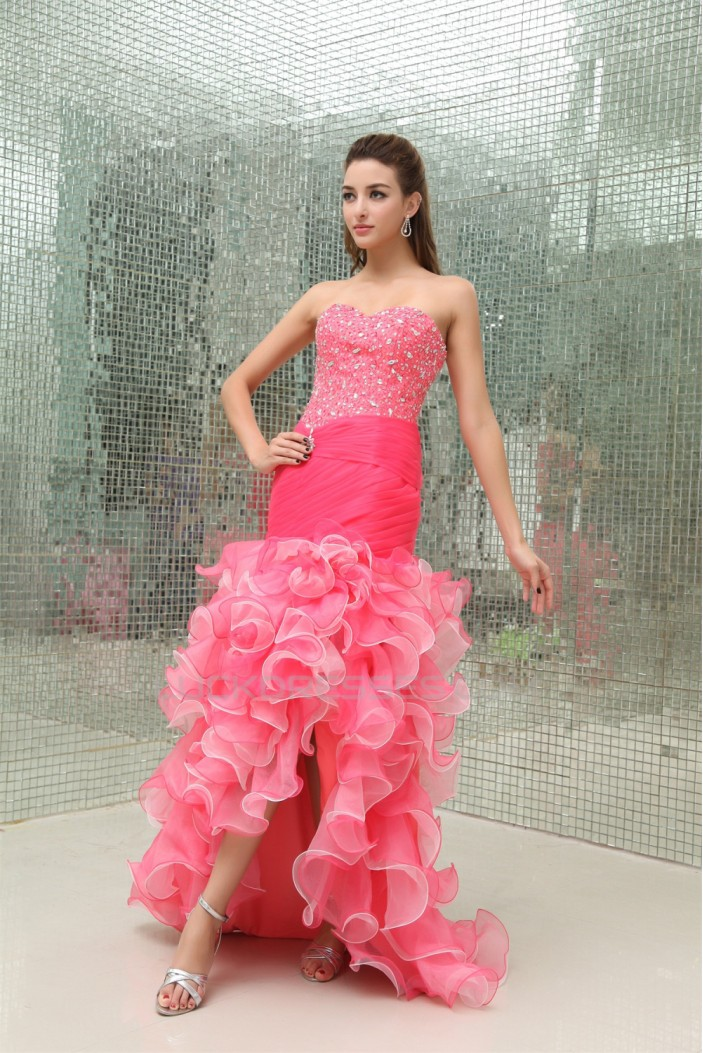 Trumpet/Mermaid Sweetheart Brush Sweep Train Sleeveless Prom/Formal Evening Dresses 02020428