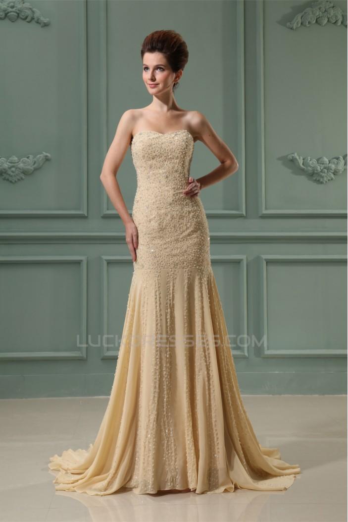 Trumpet/Mermaid Sweetheart Chiffon Beading Prom/Formal Evening Dresses 02020430