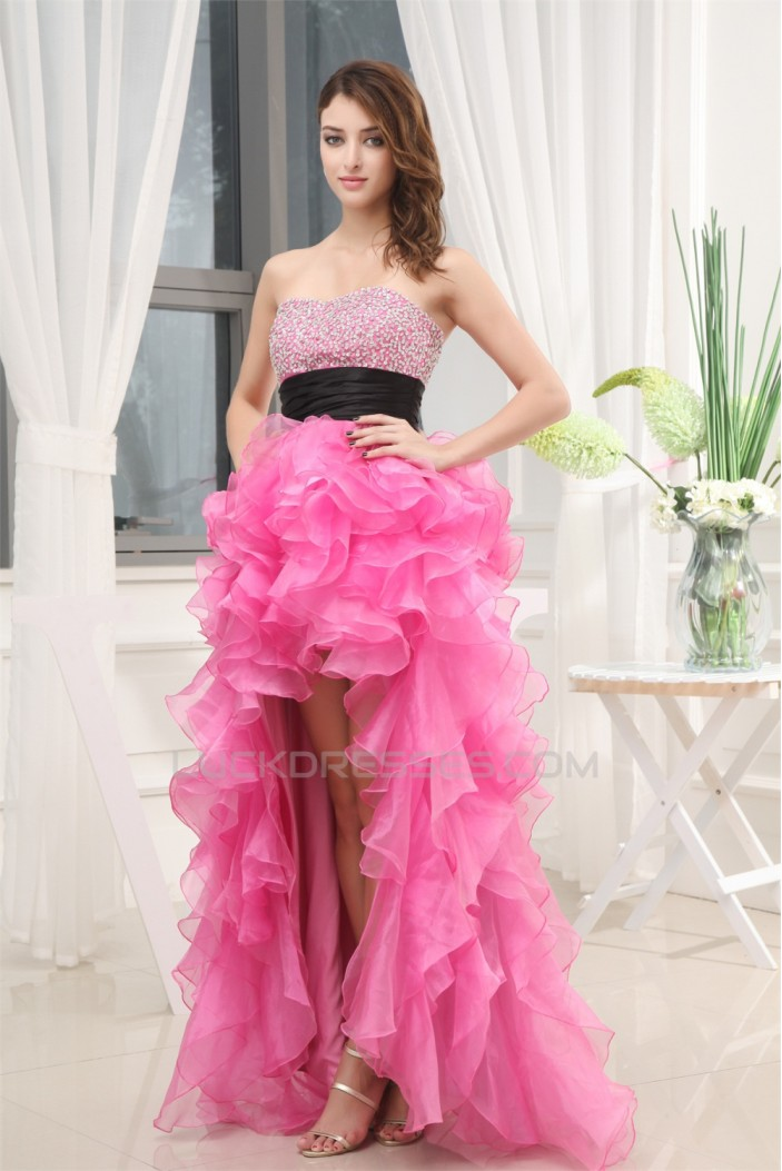 High Low Strapless Beading Prom/Formal Evening Dresses 02020436