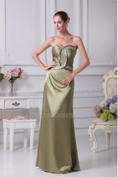Sheath/Column Sweetheart Sleeveless Criss Cross Floor-Length Evening Formal Bridesmaid Dresses 02020440