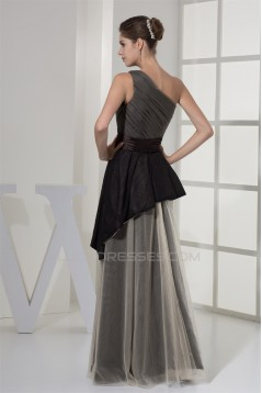Taffeta Fine Netting Lace A-Line Floor-Length Evening Formal Mother of the Bride Dresses 02020443