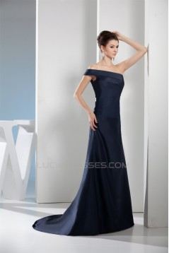 A-Line One-Shoulder Pleats Prom/Formal Evening Dresses 02020445