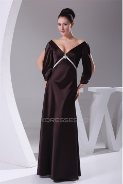 V-Neck Beading Floor-Length Sleeveless Sheath/Column Prom/Formal Evening Dresses 02020450