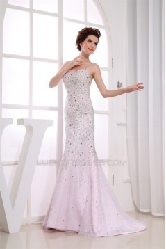 Trumpet/Mermaid V-Neck Beading Brush Sweep Train Prom/Formal Evening Dresses 02020451