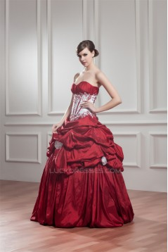 Ball Gown Pick Ups Taffeta Floor-Length Prom/Formal Evening Dresses 02020471