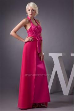 Beading Chiffon Floor-Length Sheath/Column Halter Prom/Formal Evening Dresses 02020479