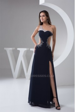 Beading Floor-Length One-Shoulder Sheath/Column Prom/Formal Evening Dresses 02020481