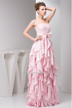 Beading Lace Strapless Sleeveless Prom/Formal Evening Dresses 02020484