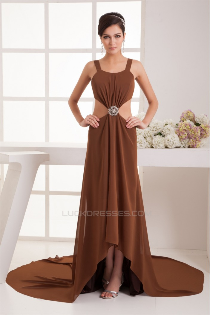 Buckle Sleeveless Chiffon Fine Netting A-Line Prom/Formal Evening Dresses 02020497