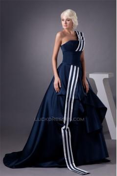 Cascading Ruffles One-Shoulder A-Line Taffeta Prom/Formal Evening Dresses 02020498