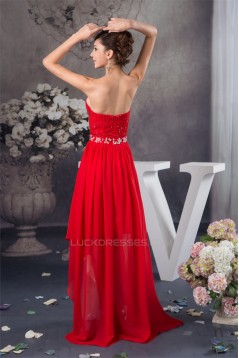 Charming A-Line Sweetheart Chiffon Homecoming Cocktail Evening Dresses 02020499
