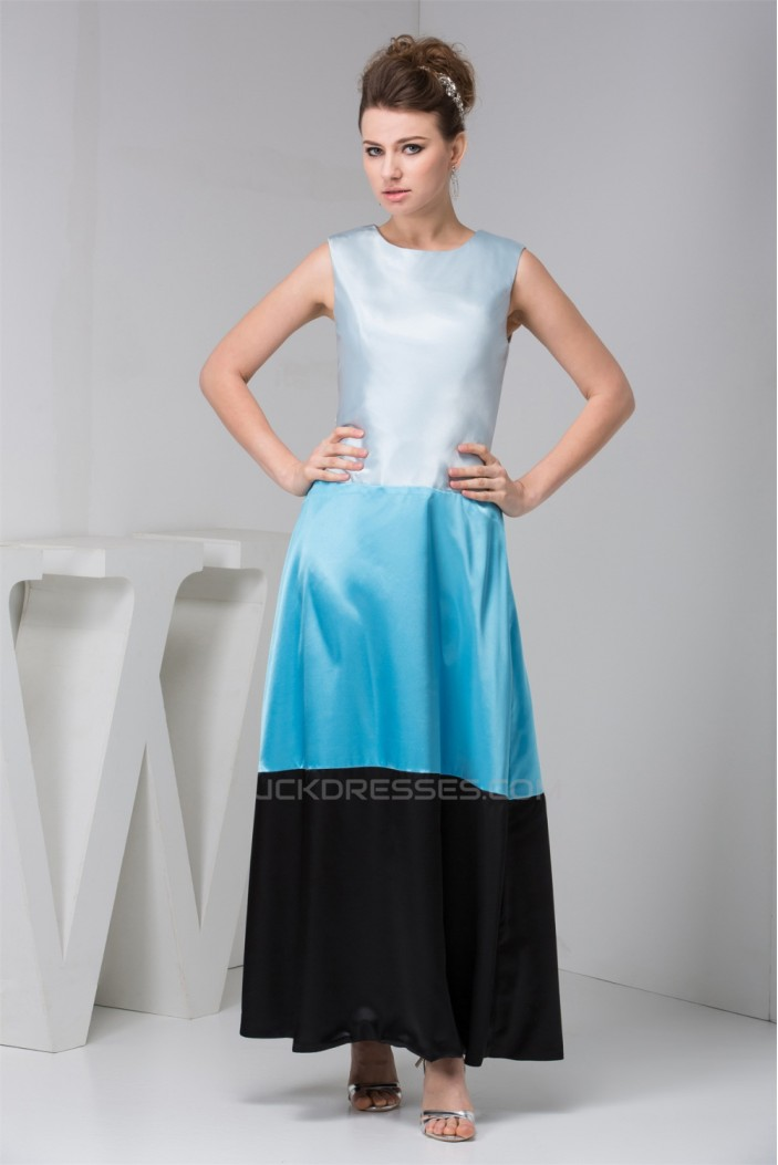Ankle-Length Scoop Formal Evening Bridesmaid Dresses 02020506
