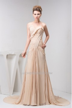 A-Line Sweetheart Chiffon Sleeveless Prom/Formal Evening Dresses 02020507