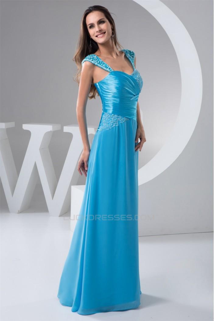 Chiffon Sleeveless Sheath/Column Straps Prom/Formal Evening Dresses 02020511