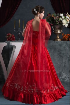 Floor-Length Beading Satin Taffeta Organza Prom/Formal Evening Dresses 02020515
