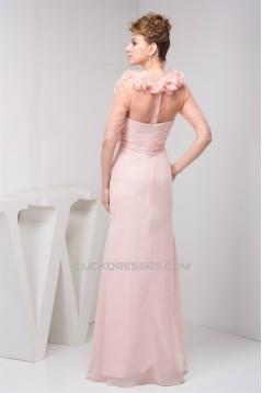 Floor-Length Chiffon Fine Netting Long Pink Prom/Formal Evening Dresses 02020519