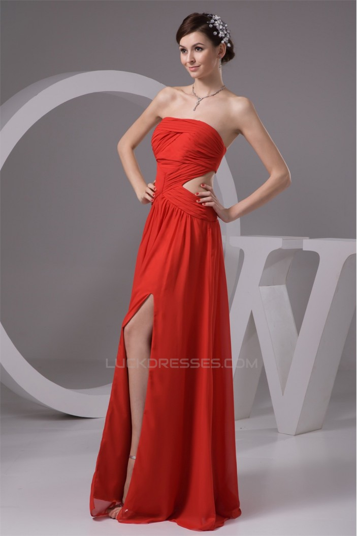 Floor-Length Chiffon Sleeveless Prom/Formal Evening Dresses 02020520