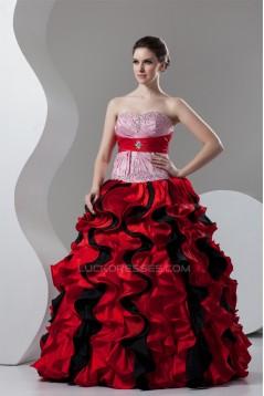 Floor-Length Sweetheart Satin Taffeta Sleeveless Prom/Formal Evening Dresses 02020527
