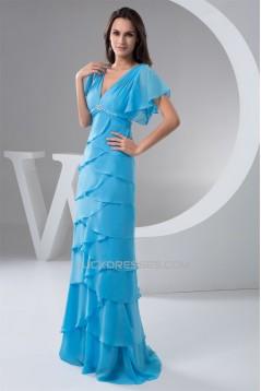 Floor-Length V-Neck Sheath/Column Chiffon Prom/Formal Evening Dresses 02020528