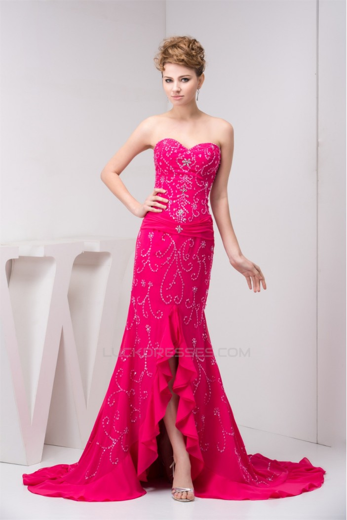 Mermaid/Trumpet Beading Sleeveless Sweetheart Prom/Formal Evening Dresses 02020535