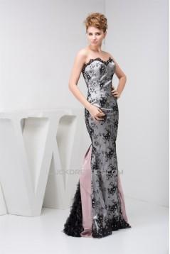 Mermaid/Trumpet Sleeveless Lace Fine Netting Prom/Formal Evening Dresses 02020537