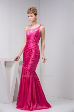 Trumpet/Mermaid One-Shoulder Beading Lace Prom/Formal Evening Dresses 02020538