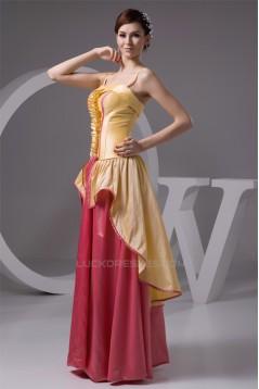 Ruched Spaghetti Straps Floor-Length Sheath/Column Prom/Formal Evening Dresses 02020542