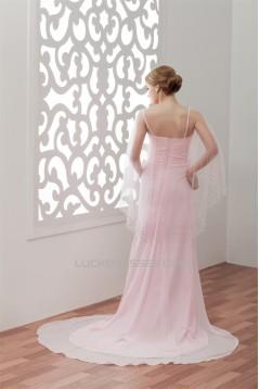 Ruffles Sleeveless Chiffon Long Pink Prom/Formal Evening Dresses 02020544